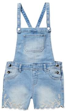 Love, Fire Scallop Hem Embellished Shortall (Big Girls)
