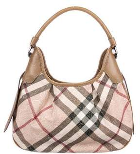 Burberry Embossed SuperNova Check Hobo