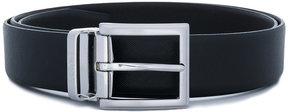 HUGO BOSS silver-tone buckle belt