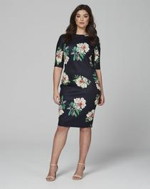 AX Paris 3/4 Sleeve Scuba Dress