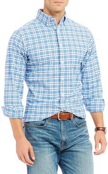 Daniel Cremieux Slim-Fit Plaid Oxford Long-Sleeve Woven Shirt