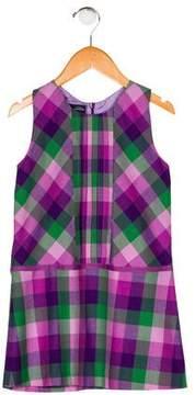Oscar de la Renta Girls' Wool Gingham Dress