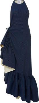 Rosie Assoulin Ruffled Polka-Dot Cotton-Blend Maxi Dress
