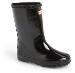 Hunter Toddler 'First Gloss' Rain Boot