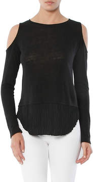 Generation Love Talulah Pleated Double Layer Cold Shoulder Top