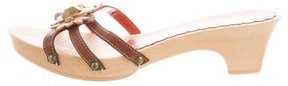 Moschino Cheap & Chic Moschino Cheap and Chic Leather Slide Sandals