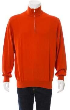 Loro Piana Half-Zip Rib Knit Sweater