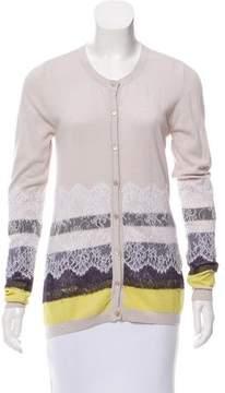 Christian Lacroix Lace-Trimmed Button-Up Cardigan