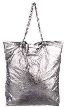 Lanvin Foiled Leather Shoulder Bag