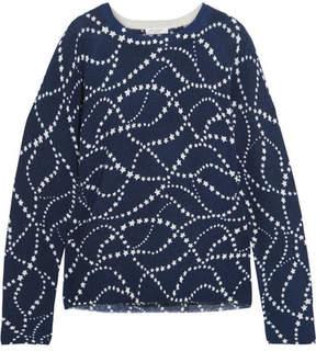 Equipment Sloane Intarsia Cashmere Sweater - Navy