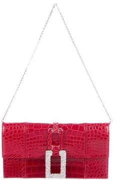Judith Leiber Alligator Shoulder Bag