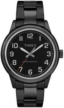 Timex Men's New England Black Watch, Stainless Steel Bracelet