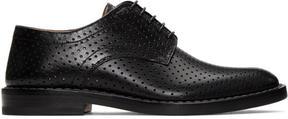 Maison Margiela Black Perforated Leather Derbys