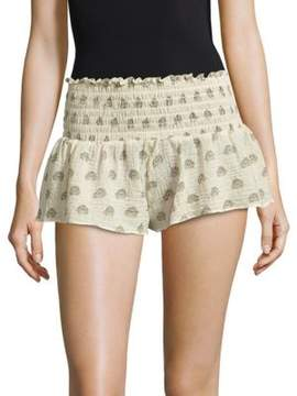 Eberjey Lotus Bloom Meadow Cover-Up Cotton Shorts