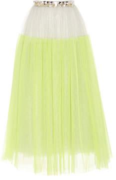 DELPOZO Long silk tulle skirt