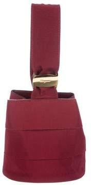 Salvatore Ferragamo Ruffled Grosgrain Handle Bag