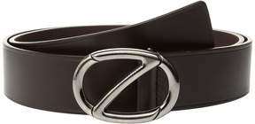 Z Zegna Adjustable/Reversible Grained Belt BKIBM2 Men's Belts