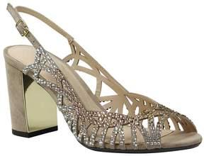 J. Renee Tahira Slingback Cutout Rhinestone-Embellished Block Heel Dress Sandals