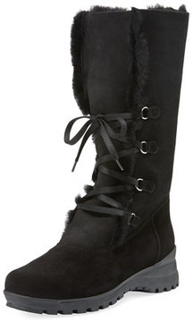 La Canadienne Annabella Shearling Fur-Lined Boot, Black