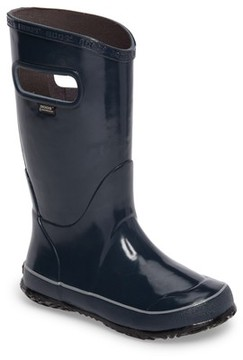 Bogs Boy's Solid Waterproof Rubber Rain Boot