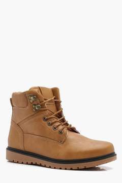 boohoo PU Hiker Boot