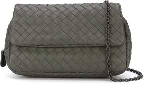 Bottega Veneta woven leather flap bag