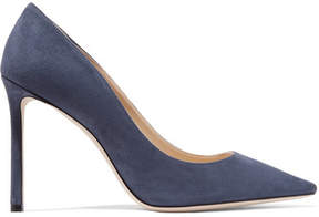Jimmy Choo Romy 100 Suede Pumps - Storm blue