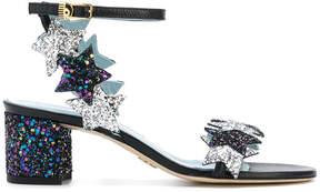 Chiara Ferragni star embroidered sandals