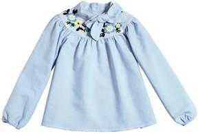 Ermanno Scervino Embroidered Cotton Oxford Shirt