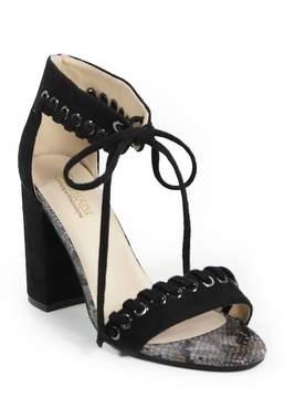 Catherine Malandrino Strake Lace-Up Block Heel Sandal