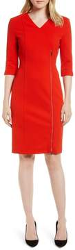 BOSS Deazema Twill Jersey Dress