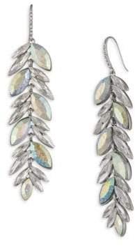 ABS by Allen Schwartz Marquise Pave Linear Drop Earrings
