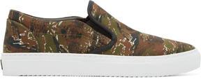 Marcelo Burlon County of Milan Green Camo Pilar Slip-On Sneakers