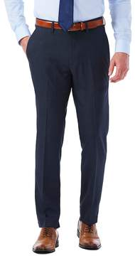 Haggar Men's Slim-Fit Stretch Melange Gabardine Flat-Front Suit Pants