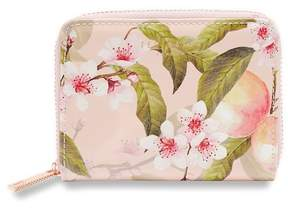 Ted Baker Peach Blossom Small Zip Wallet