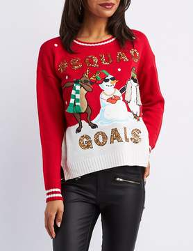 Charlotte Russe #SquadGoals Christmas Sweater