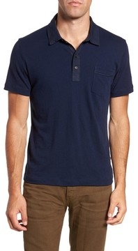 Billy Reid Men's Standard Fit Jersey Polo