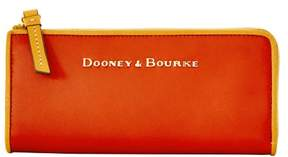 Dooney & Bourke City Zip Clutch Wallet - BURNT ORANGE - STYLE