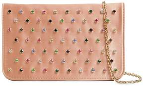 RED Valentino Multicolor Crystals Satin Clutch