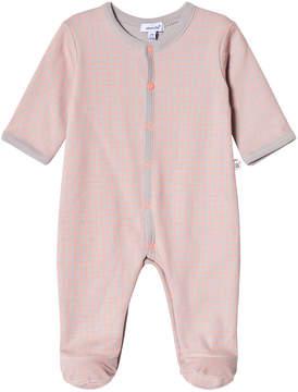 Absorba Grey and Pink Check Babygrow