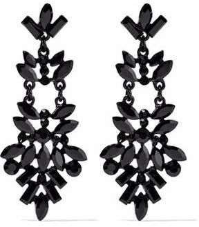 Kenneth Jay Lane Crystal Enamel Earrings