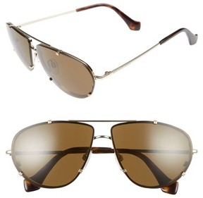 Balenciaga Women's 62Mm Aviator Sunglasses - Pale Gold/ Dark Havana/ Roviex