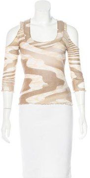 Class Roberto Cavalli Cold-Shoulder Printed Top