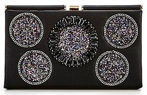 Gianni Bini Embellished-Circle Frame Clutch