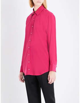 A.F.Vandevorst Double placket silk-blend shirt