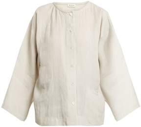 Masscob Round-neck linen top