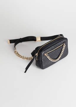 And other stories Grainy Leather Chain Beltbag