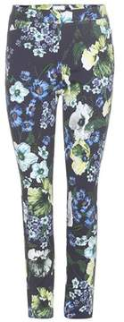 Erdem Sidney printed cotton-blend trousers
