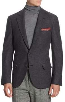 Brunello Cucinelli Diagonal Stitch Suit Jacket