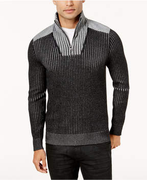 INC International Concepts Men's Colorblocked Quarter-Zip Sweater-Jacket, Created for Macy's